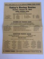"""Vintage 1947 Cleveland National Air Race """"Today's Racing Entries"""" Airplanes, Jet"""