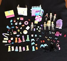 Large Lot Polly Pocket DOLLS, CLOTHING, SHOES, Limo, ACCESS. 100+ pc. Lifeguard