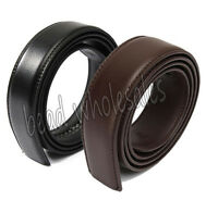 Men`s 110-140cm Genuine Leather Belt Automatic Buckle Waist Strap Belt 5 Colors