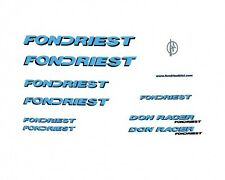 Fondriest Don Racer Bicycle Decals, Transfers, Stickers n.12