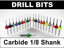 """FIVE Pack  -  Carbide 1/8"""" Shank Drills  -  Choose From Sizes:  078"""" to .120"""""""