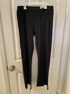 Gaiam OM YOGA BOOTCUT PANTS The OM Fit Black Women's Size Large NEW