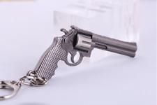 car Revolver Pistol Weapon Gun Model Metal Keychain Keyring Key Ring Chain