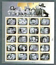 Us #4414 a-t Mnh, Early Tv Memories Sheet, Fv $8.80 (2009)