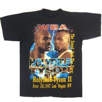 Vintage 90s WBA Holyfield VS Tyson II Black T-Shirt Men's Size S to 234XL G282
