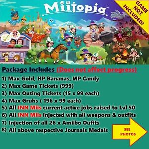 Miitopia (Switch Save Edit) Service, NOT A GAME