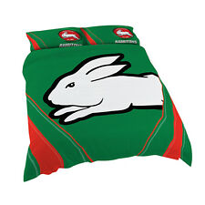 South Sydney Rabbitohs NRL DOUBLE Bed Quilt Doona Duvet Cover Set NEW 2018* GIFT