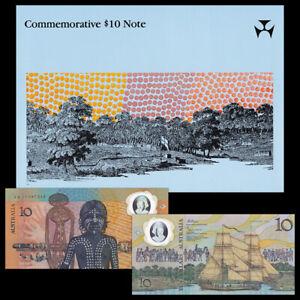 Australia 10 Dollars, 1988, Polymer, 200th COMM., Prefix AA, In Folder, UNC