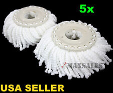 New 5PC Replacement Mop Head Refill For 360 Magic Spin Mop Long Microfiber