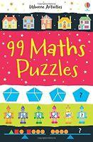 Usborne Activities 99 Math Puzzles by Sarah Kahn (Paperback) FREE shipping $35