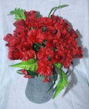 Flores secas y artificiales decorativas de color principal rojo para el hogar