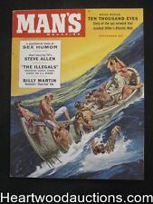 Man's Sep 1958 Lisa Winters by Bunny Yeager, Baseball Billy Martin, Harry Schaar