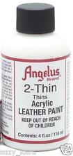 Angelus 2-Thin Thins Acrylic Paint Reducer Solvent 4oz