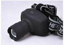 Hunting LED Headlamp headlight Zoomable fishing Torch Lamp,Adjustable Head Strap