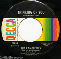 THE RAMBLETTES-On Back Street-Rare Northern Soul-Girl Group 45-DECCA #31752