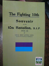 10th THE FIGHTING 10TH BATTALION MILITARY HISTORY BOOK South Australian WW1