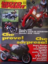 Motosprint 48 2001 Honda VFR, BMW F 650 CS Scarver, Suzuki GSX 1400. A. Corradi