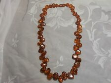 "GENUINE VINTAGE COGNAC BALTIC AMBER 23"" NECKLACE 44 GRAMS"