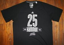 BECKY HAMMON / SAN ANTONIO STARS NBA BASKETBALL / ADIDAS BLACK T-SHIRT SIZE XL