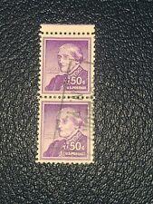 US Stamp Susan B. Anthony 50c Scott# 1051 Used Pair -#2582