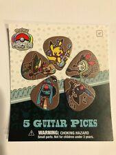Pokemon World Championships 2018 Nashville 5 Guitar Picks Set - Brand New