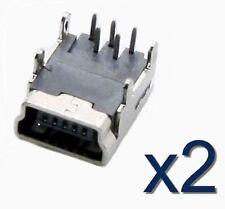 2x connecteur à souder USB mini B / 2 pcs solder connector female SMD Socket