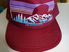 VTG Montana Mountain Snapback Foam Hat Baseball Cap Made in USA Mesh Trucker