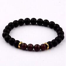 8MM Natural Lava 4 Piece brown Cats Eye Beads Charm Men Women Fashion Bracelets