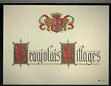 Etiquette de Vin - - Beaujolais Villages -  Réf.n°301