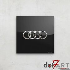 Audi Badge Luxury Black Open Edition Print