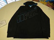 Men's Fox Racing hoodie hoody pull over soft jacket coat S sm Balck blue fleece