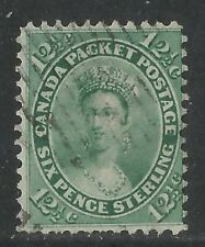 Canada 1859 Queen Victoria 12 1/2c blue green (18a) used