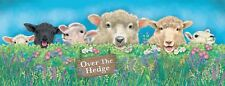 New 40x15cm Over The Hedge sheep & lamb metal wall sign