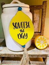 New Wooden Lemon Jute Rope Sign For Tiered Tray Decor