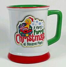 Sesame Place Elmo Big Bird Coffee Mug Tea Cup 11oz A Very Furry Christmas