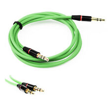 NEW 4FT 3.5MM AUX M/M AUDIO CABLE GREEN FOR LG G2 OPTIMUS G PRO HTC ONE MOTO X G