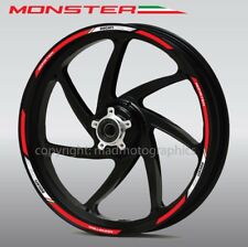 Ducati Monster 796 1200 wheel decals stickers rim stripes Laminated 797 821 Red