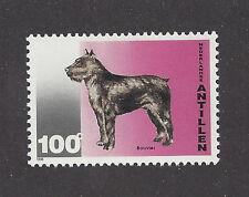 Dog Art Body Study Postage Stamp Bouvier Des Flandres Netherlands Antilles Mnh