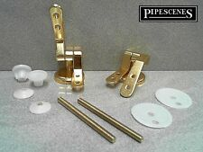 Brass Gold Effect Toilet Seat Fittings Seat Hinges for Wooden Toilet Seats NEW