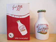 "NEW Westland Giftware ""Just Milk It!"" Coin Stash Money Bank Bottle #16034"