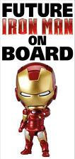 Ironman Baby / Kids on Board Reusable Bumper Sticker Wall Sticker Decal