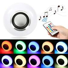 12W RGB LED Light Bulb E27 Bluetooth Speaker Wireless Music Playing with Remote