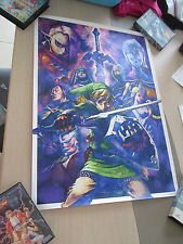 > THE LEGEND OF ZELDA SKYWARD SWORD #2 CLUB NINTENDO JAPAN OFFICIAL B2 POSTER! <