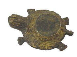 Tortoise Incense Cone Holder Brass Paper Weight Feng Shui Temple Vastu Figurine
