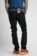 W33 L34 33/34 NUDIE jeans SLIM JIM DRY BLACK raw fade to grey slim STRAIGHT fit