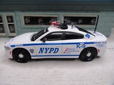 GREEN LIGHT POLICE DODGE CHARGER HIGHWAY PATROL  NYPD K-9 CUSTOM UNIT