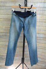 NWOT Liz Lange Maternity - Over the belly Boot Cut MEDIUM wash denim jeans, sz 2