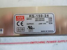MEAN WELL RS-150-24 AC TO DC POWER SUPPLY NEW