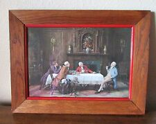 """Frank Moss Bennett Rare Vintage 1920's Print On Canvas """"A Point Of Law"""" Framed"""