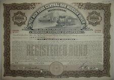 New York Central & Hudson River Railroad Bond Stock Certificate Michigan